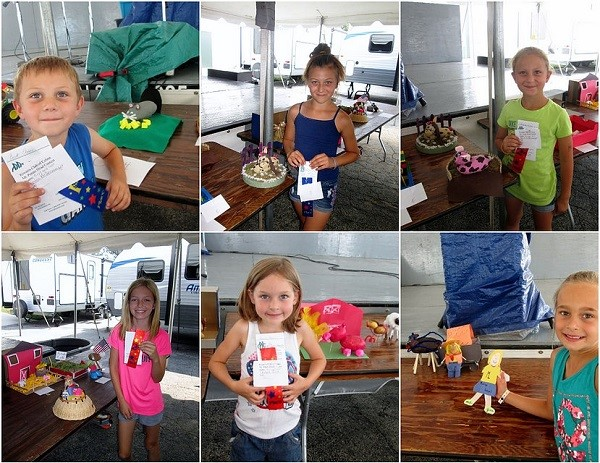 Six winners of the Mr. Potato Head Contest
