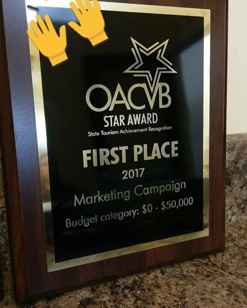 2017 STAR Award from the Ohio Association of Convention & Visitors Bureau's
