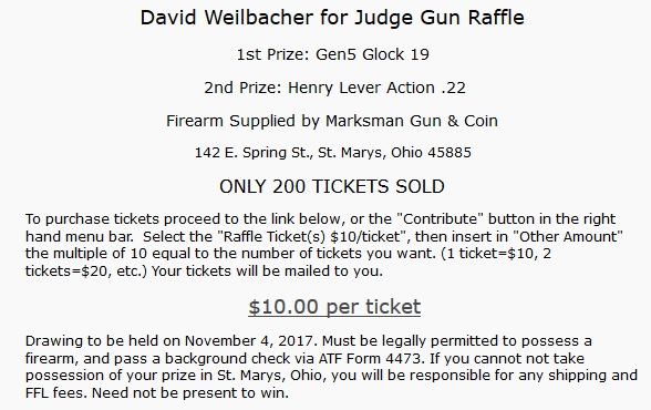 Attorney General Stops Auglaize County Judge Candidate's Gun Raffle