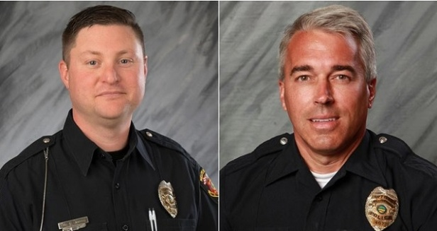 Westerville police Officer Eric Joering and Officer Anthony Morelli