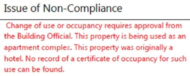 celina hotel - compliance
