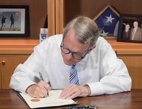 Governor DeWine Signing bill