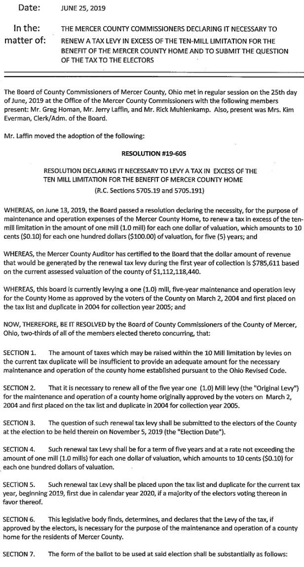 Mercer Co Home Resolution