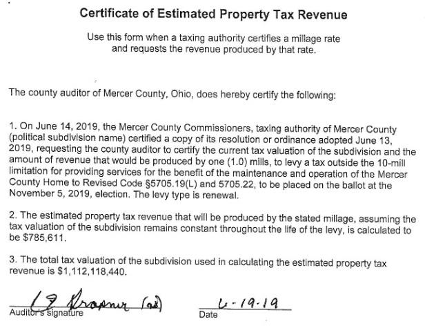 Mercer Co Home revenue