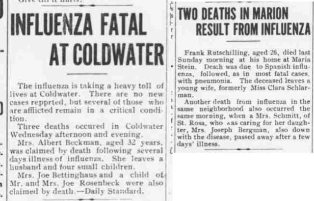 FLU - 11-11-1918 deaths